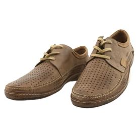 Mario Pala Men's openwork shoes 563 beige 11