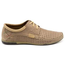 Mario Pala Men's openwork shoes 563 beige 2