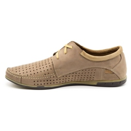 Mario Pala Men's openwork shoes 563 beige 3