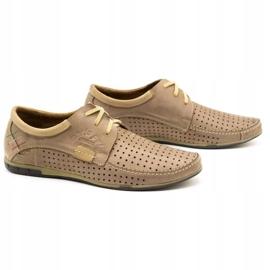 Mario Pala Men's openwork shoes 563 beige 4