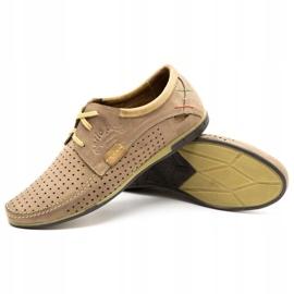 Mario Pala Men's openwork shoes 563 beige 5