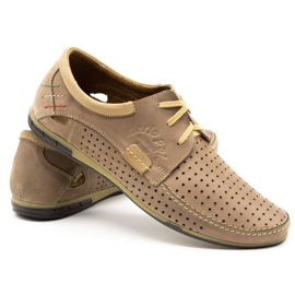 Mario Pala Men's openwork shoes 563 beige 6