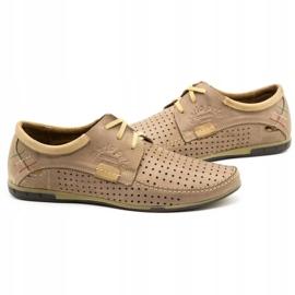 Mario Pala Men's openwork shoes 563 beige 7