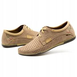 Mario Pala Men's openwork shoes 563 beige 8
