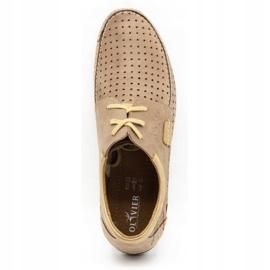 Mario Pala Men's openwork shoes 563 beige 10