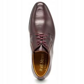 Olivier Burgundy formal shoes 480 red multicolored 9