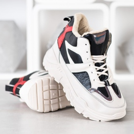 Seastar Sport Fashion Boots white black red 2