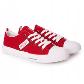 Men's Big Star HH174040 Red Sneakers white 5