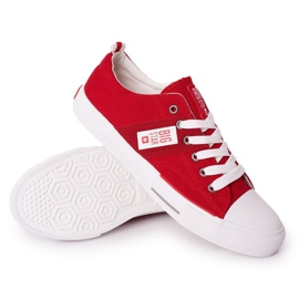 Men's Big Star HH174040 Red Sneakers white 3