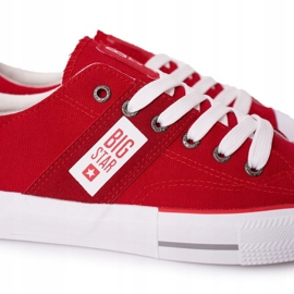 Men's Big Star HH174040 Red Sneakers white 4