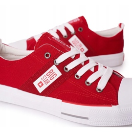 Men's Big Star HH174040 Red Sneakers white 2