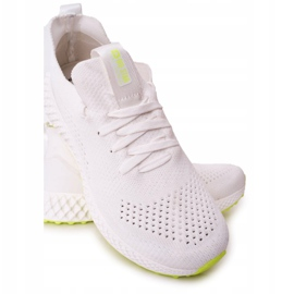 Men's Sports Shoes Memory Foam Big Star FF174235 White-Lime green 3
