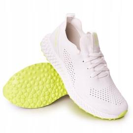 Men's Sports Shoes Memory Foam Big Star FF174235 White-Lime green 4