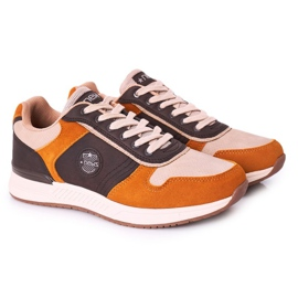 NEWS Men's sports shoes Sneakers Yellow-Brown Harold multicolored 1