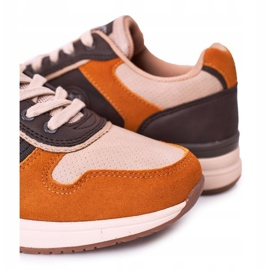 NEWS Men's sports shoes Sneakers Yellow-Brown Harold multicolored 3