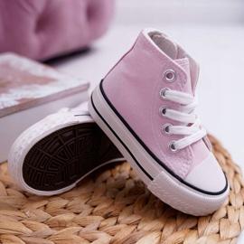 FRROCK Children's Classic High Pink Filemon Sneakers 3