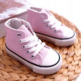FRROCK Children's Classic High Pink Filemon Sneakers 2