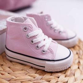 FRROCK Children's Classic High Pink Filemon Sneakers 1