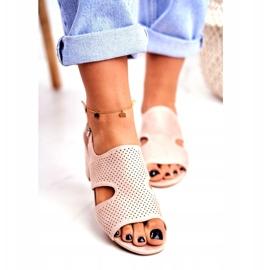 BUGO Beige Openwork Valery Women's Sandals 3