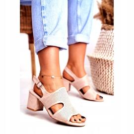 BUGO Beige Openwork Valery Women's Sandals 2