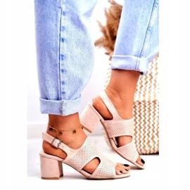 BUGO Beige Openwork Valery Women's Sandals 1