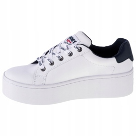 Tommy Hilfiger Iconic Leather Flatform shoes in EN0EN01113-YBR white navy 1
