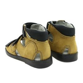 High prophylactic sandals Mazurek 291 gray orange grey yellow 2