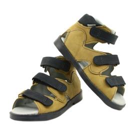 High prophylactic sandals Mazurek 291 gray orange grey yellow 3