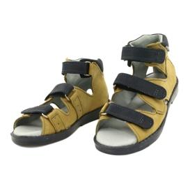 High prophylactic sandals Mazurek 291 gray orange grey yellow 1