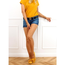 Loafers with a bow honey 88-382 Yellow 2