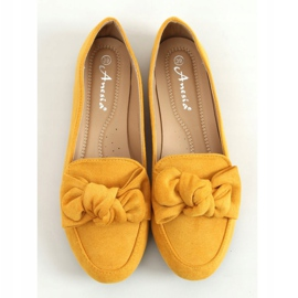 Loafers with a bow honey 88-382 Yellow 1