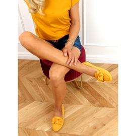 Loafers with a bow honey 88-382 Yellow 3