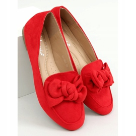 Loafers with a bow red 88-382 Red 1