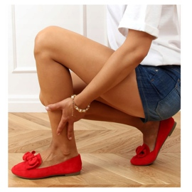 Loafers with a bow red 88-382 Red 2