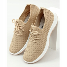 G-323 Beige beige sports shoes 1