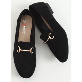 Black women's loafers T391P Black 1