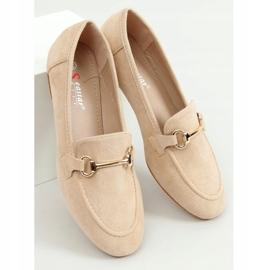 Ladies' beige loafers T391P Beige 1