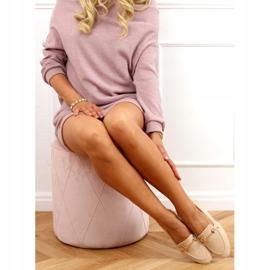 Ladies' beige loafers T391P Beige 3