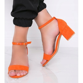 Orange sandals on the post of Beti 1