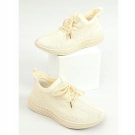 Beige socks sports shoes 7819 LT.BEIGE 1