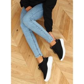 Black socks sports shoes 7817 BLACK / WHITE 2