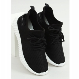 Black socks sports shoes 7817 BLACK / WHITE 1