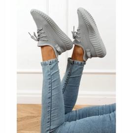 Gray socks sport shoes 7817 Gray grey 3