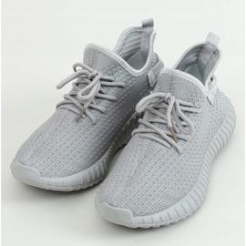 Gray socks sport shoes 7817 Gray grey 1