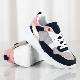 SHELOVET Stylish sneakers with mesh multicolored 1