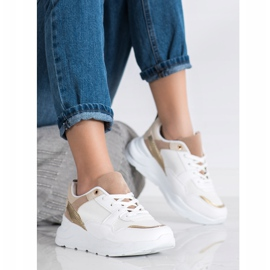 SHELOVET Stylish Sneakers With Mesh white 1