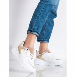 SHELOVET Stylish Sneakers With Mesh white 3