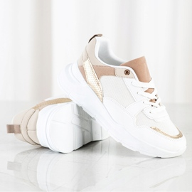 SHELOVET Stylish Sneakers With Mesh white 2