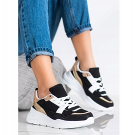 SHELOVET Stylish sneakers with mesh black 2