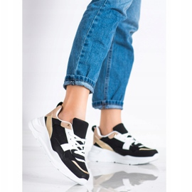 SHELOVET Stylish sneakers with mesh black 3